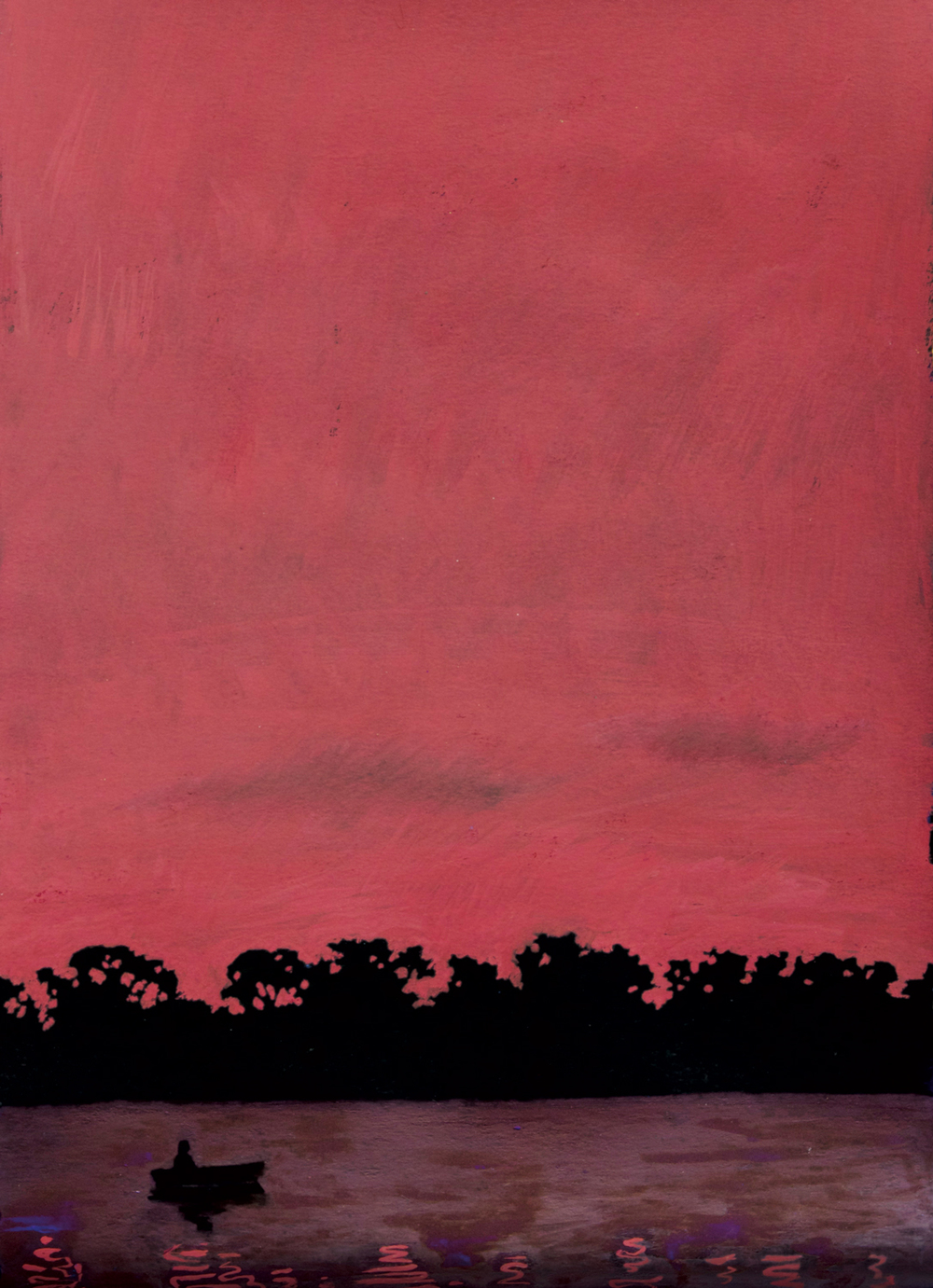 """Untitled, gouache on paper, from the book """"On Mortality,"""" 2001"""