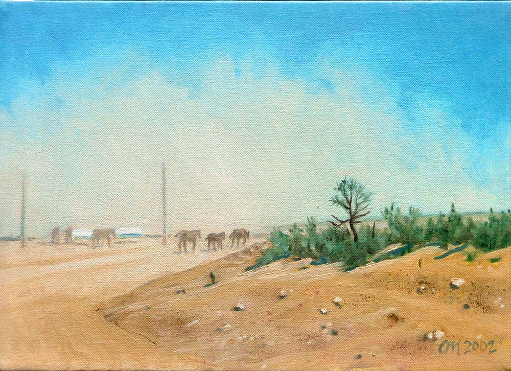 Dust, oil on canvas, 2002
