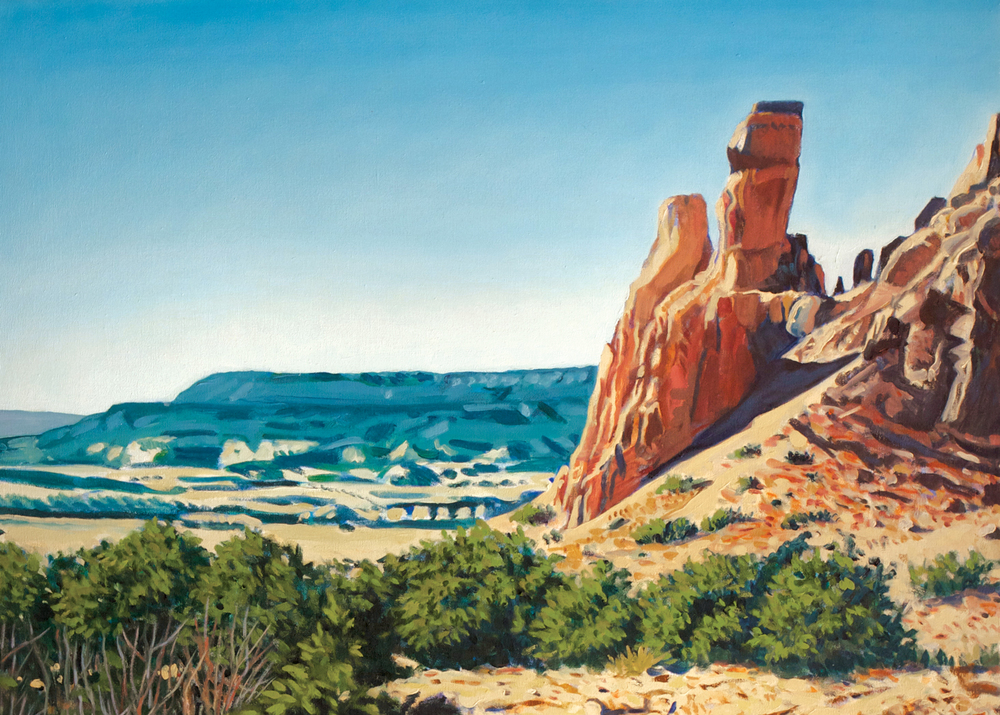 Chimney Trail, Ghost Ranch [detail], oil on canvas, 2000