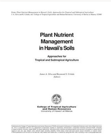 Hawaii PlanT Nurient Management
