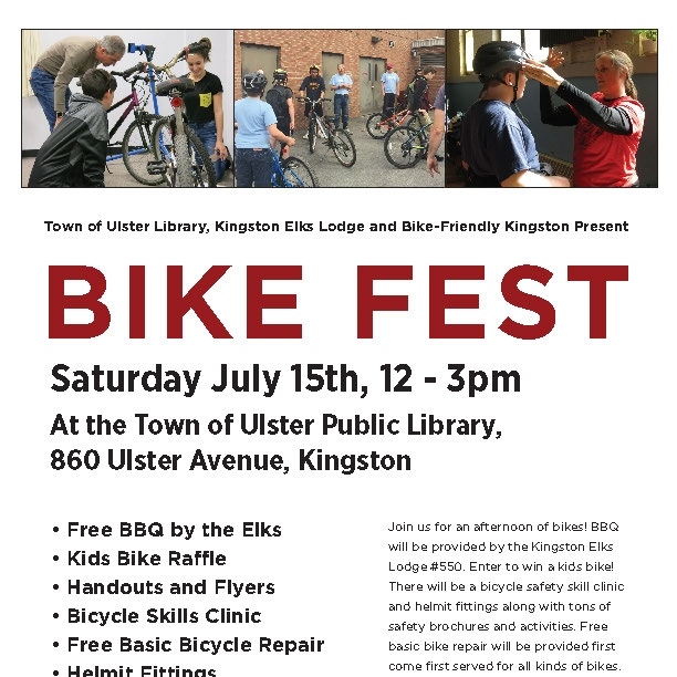 Bike Fest at the Town of Ulster Library — Bike Friendly Kingston