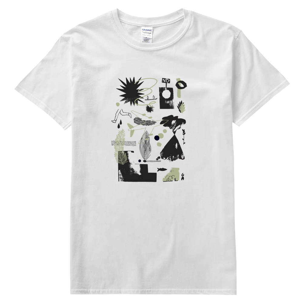 Grace Attlee illustration, everpress, tshirt, collage artist, collage illustrator, tshirt design,