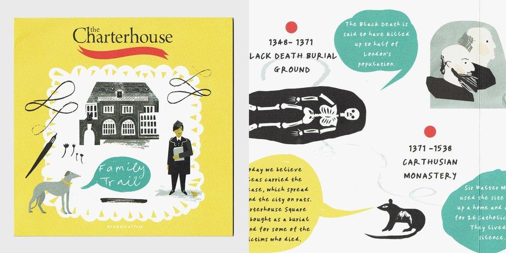 Grace Attlee, illustrator, gallery trail, gallery illustrator, gallery educator, gallery artist, museum education, museum kids trail, museum education, London illustrator, collage, the charterhouse, charterhouse family trail