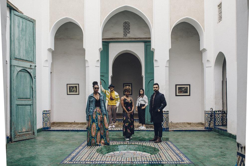Sherine, Karston, Shauna, Sanjida and Syed. Photo by Saunak Shah