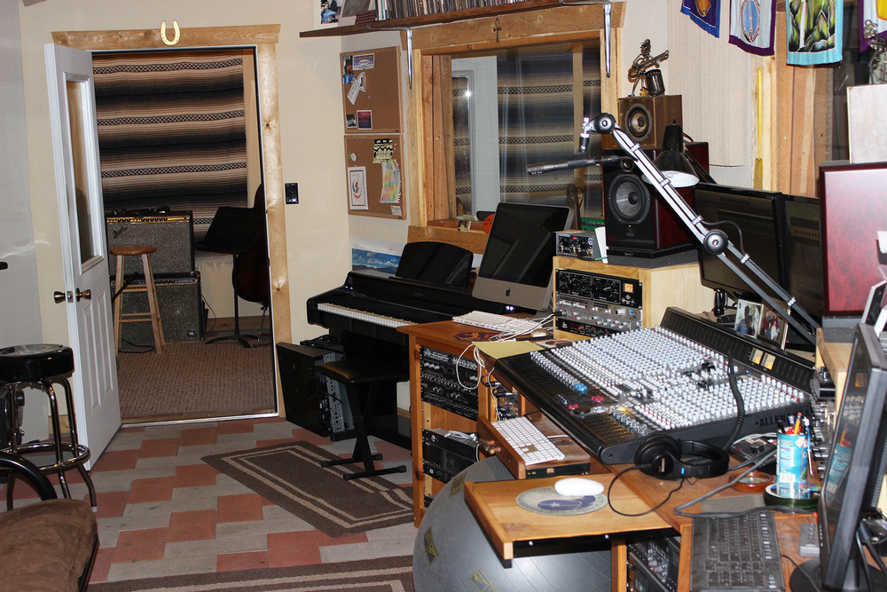 The Control Room looking toward the Vocal Room
