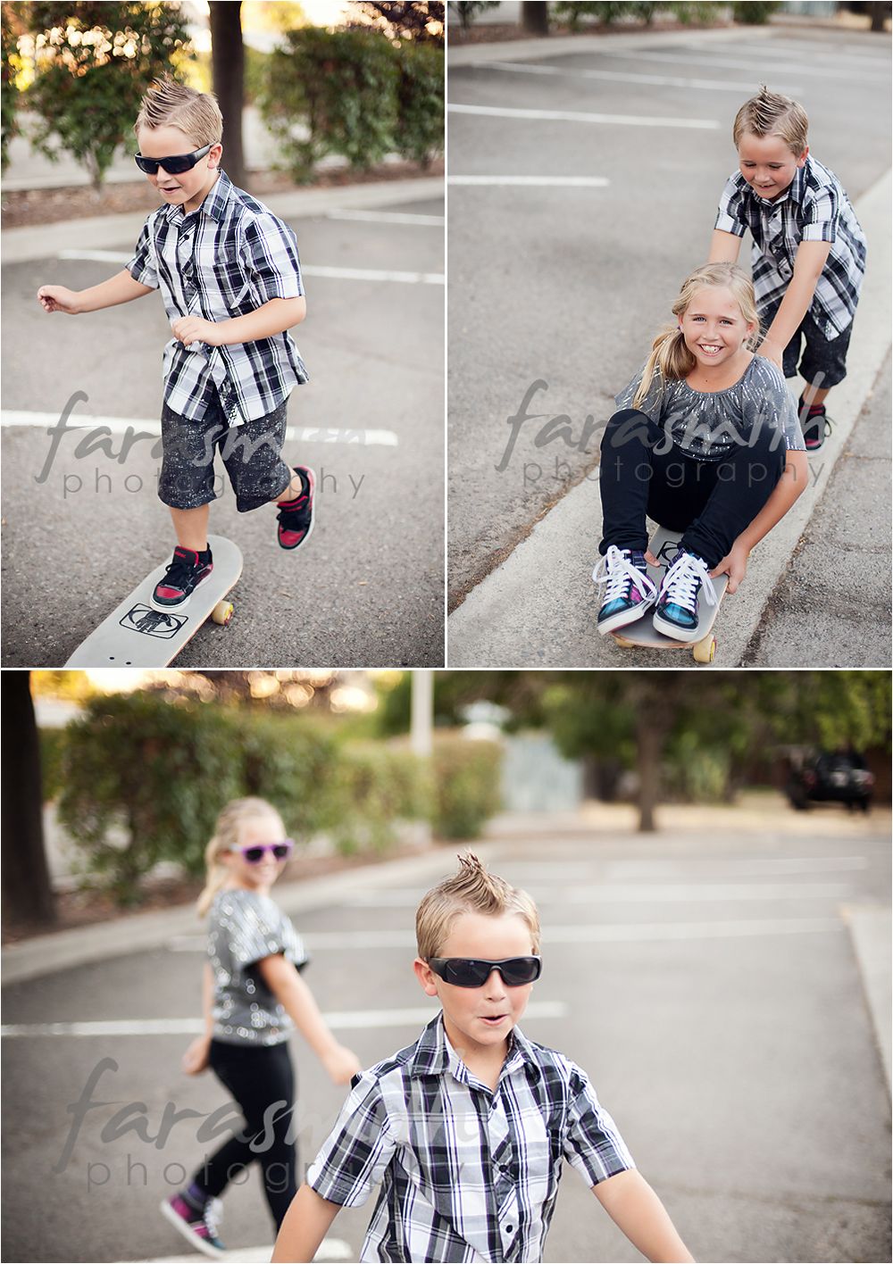 Bring props, like a skateboard to help style your shoot and make it unique!