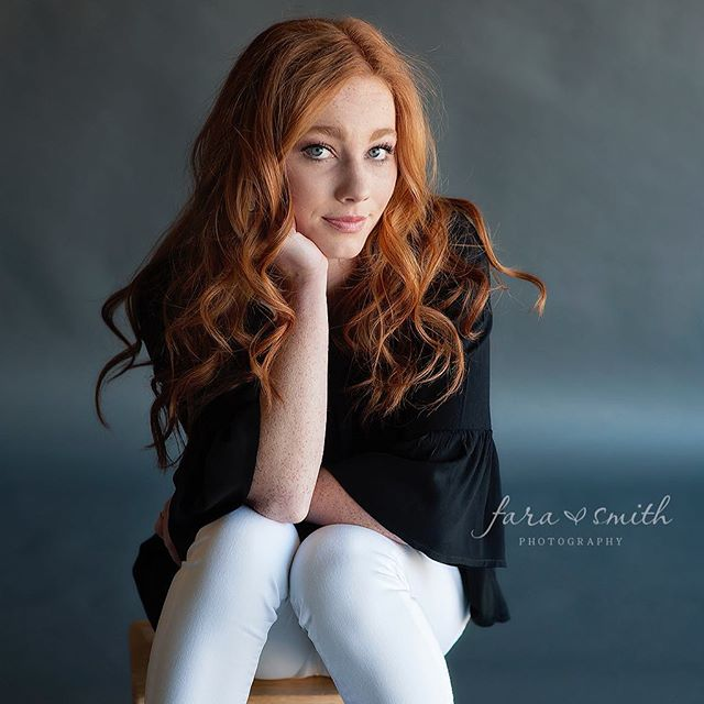 This girl never disappoints!  #redhead #redhair #freckles #seniorpictures #seniorportraits #senior #studio #nikon #50mm