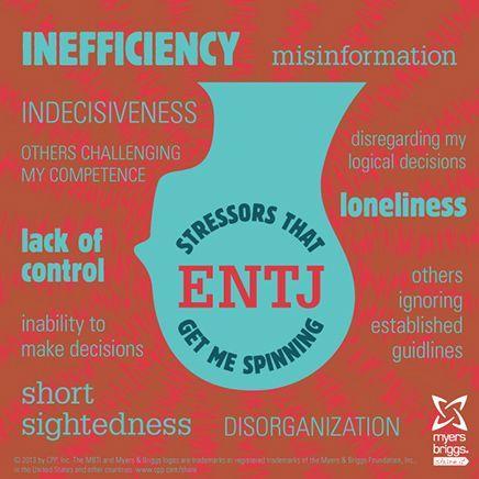 3. ENTJ Stressors