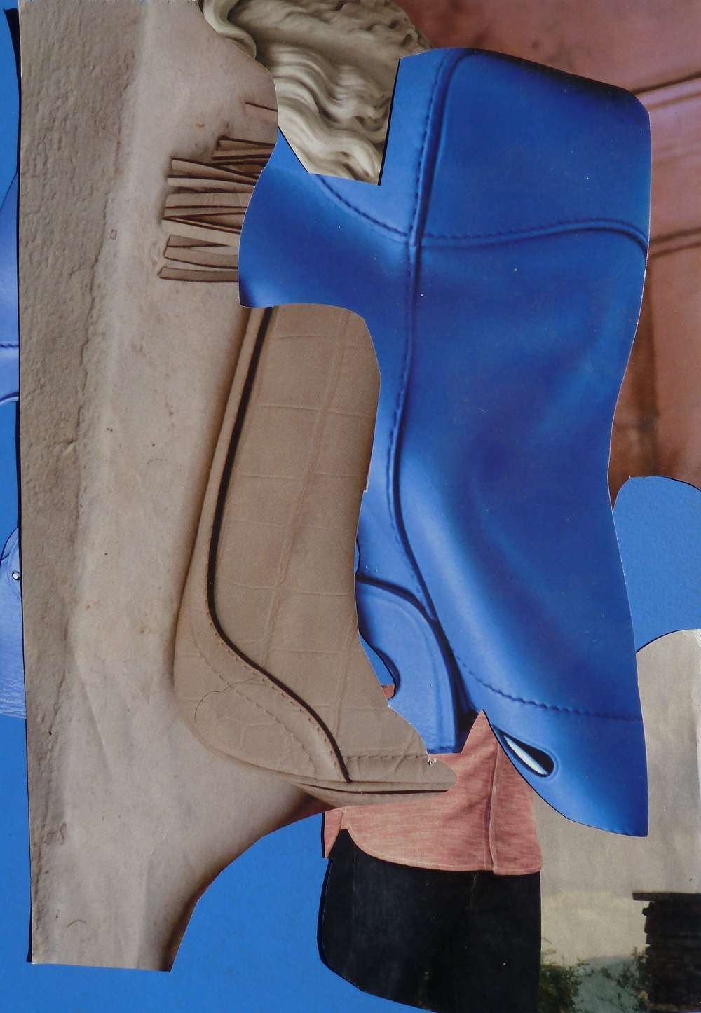 Blue Boy, 2015, Collage, 10 x 7 in.