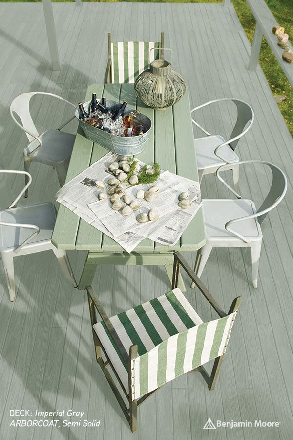 Benjamin Moore Arborcoat DECK Imperial Gray Semi Solid TABLE Ferndale Green Solid copy.jpg