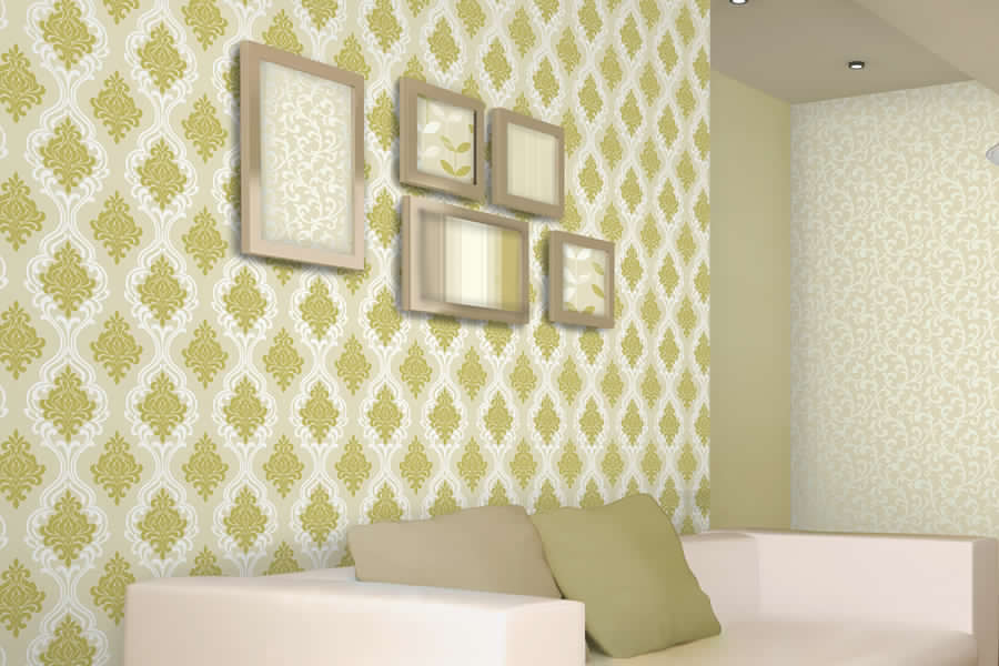 Brewster - Elements - INDIANA LIGHT GREEN DAMASK