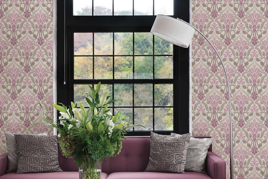 Brewster - Simple Space - FUSION PURPLE OMBRE DAMASK