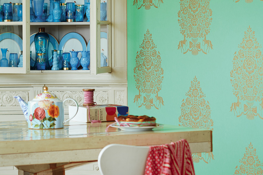 Brewster - PIP III - TILL TURQUOISE PRESIDENT DAMASK