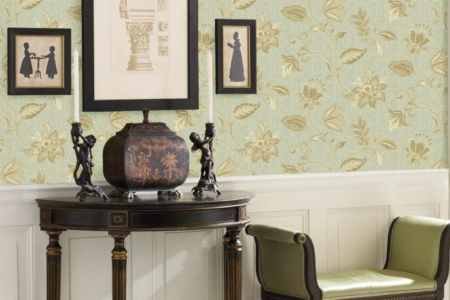 Brewster - La Belle Maison - HERITAGE GREEN JACOBEAN FLOWER