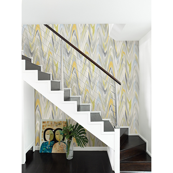 Street Prints- Catalina-AURORA YELLOW GEOMETRIC WAVE