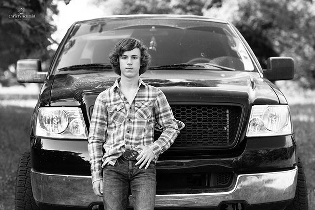 Hayden and his truck 😊 #christyschmidphotography