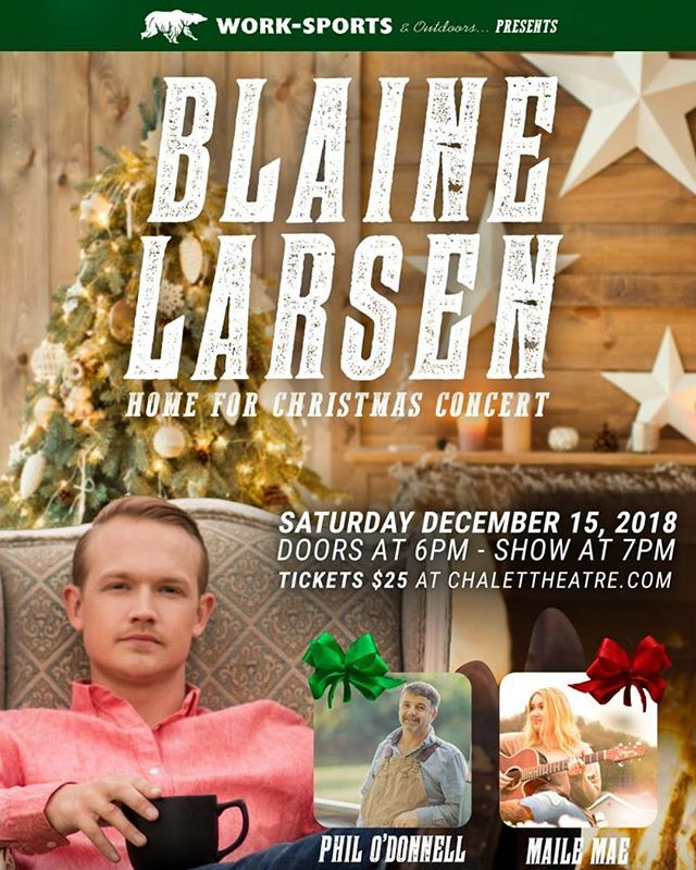 Washington friends, I'm back for my annual show in Enumclaw December 15th! I'm bringing a good buddy and big hit country writer Phil O'Donnell with me from Nashville. Christmas tunes, my songs, and some favorite covers. Going to be a fun night. Hope to see you there!