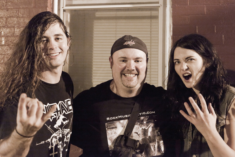 John Kevill of Warbringer, George and Grace Perry of Landmine Marathon