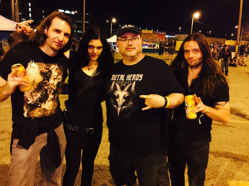George with 3/4 of Triptykon @ MDF