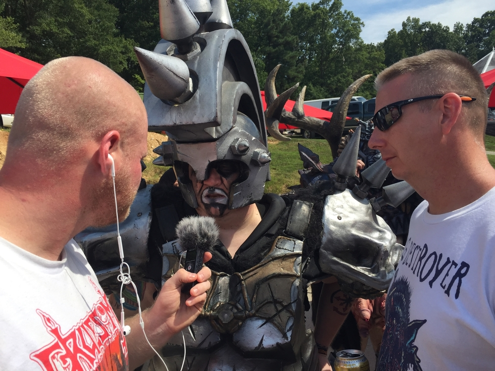Buke and Will interviewing Beefcake the Mighty of GWAR @ GWARBQ