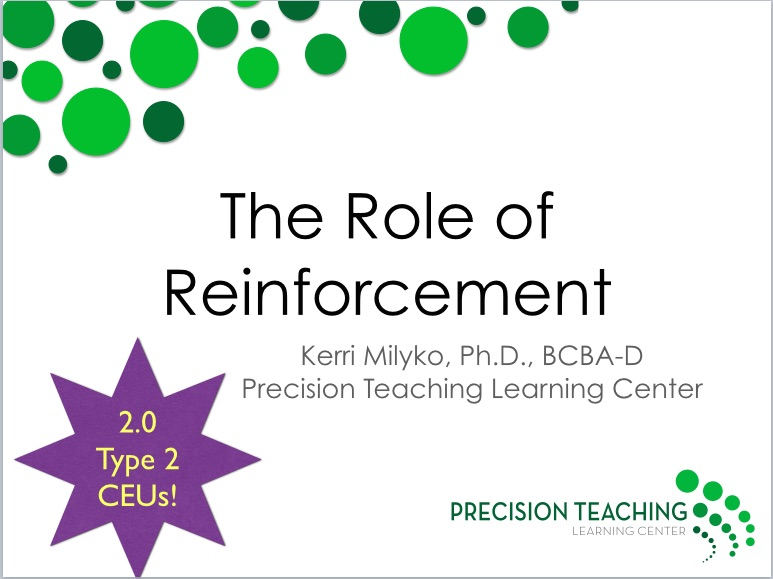 the role and different types of reinforcement Types of reinforcement in operant conditioning, there are two different types of reinforcement both of these forms of reinforcement influence behavior, but they do so in different ways the two types include: positive reinforcement involves adding something to increase a response, such as giving a bit of candy to a child after she cleans up.