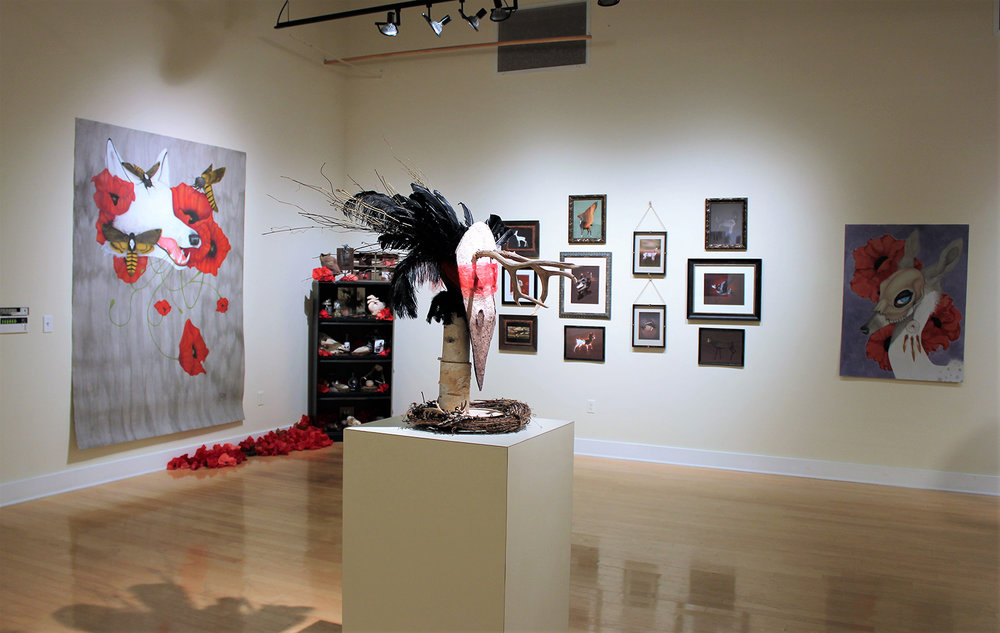 Installation at the Scarfone/Hartley Gallery during the HUMANATURE University of Tampa Arts Senior Exhibition.