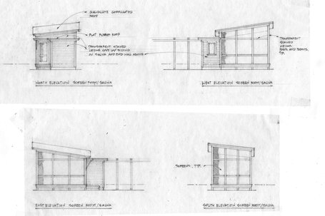 KHS small screen-house/sauna schematic elevations