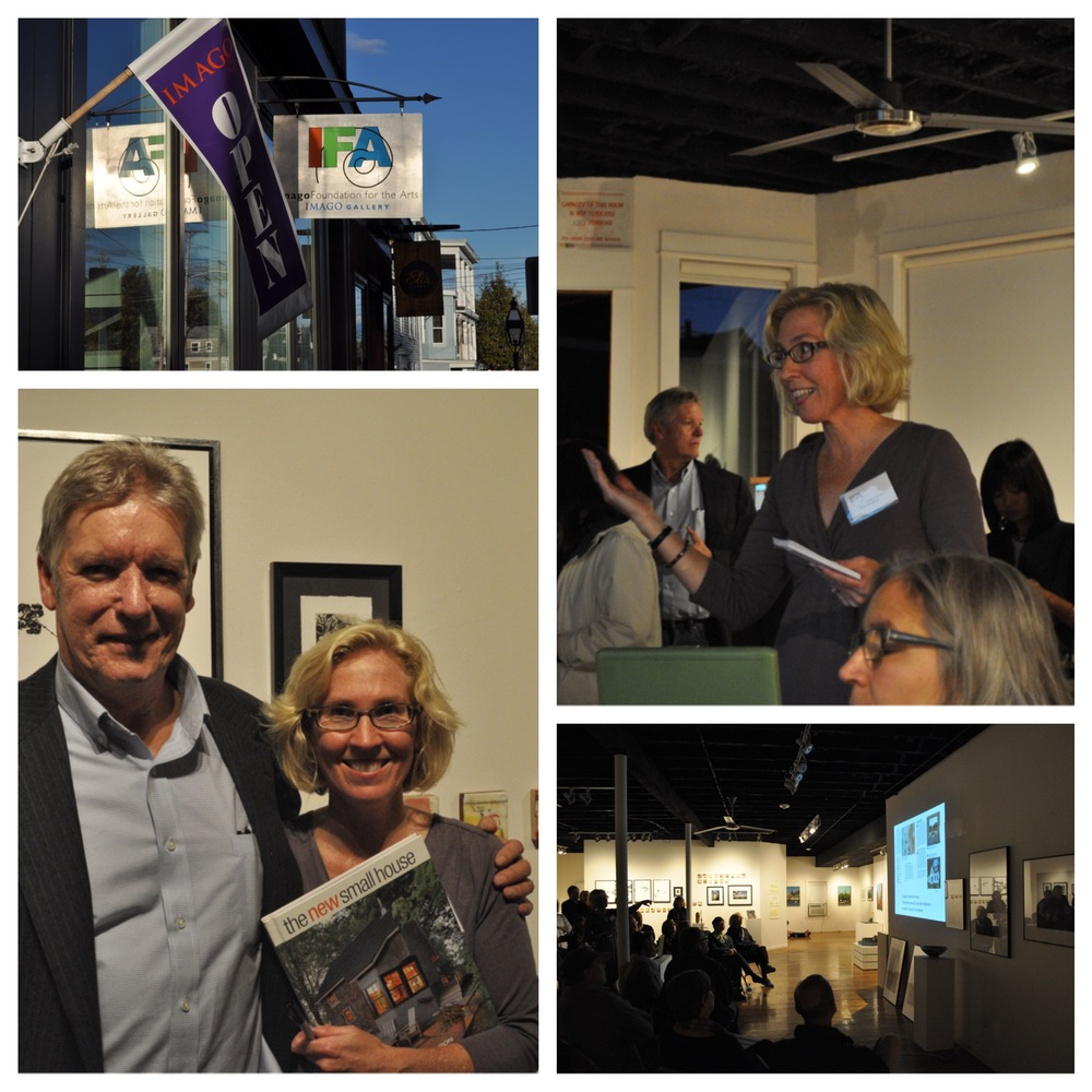 Montage from my book-launch event at the IMAGO gallery in Warren, RI. That's my editor, Peter Chapman, from the Taunton Press with me and the book. Many thanks to my multi-tasking husband, Chris Hufstader, for the photos.