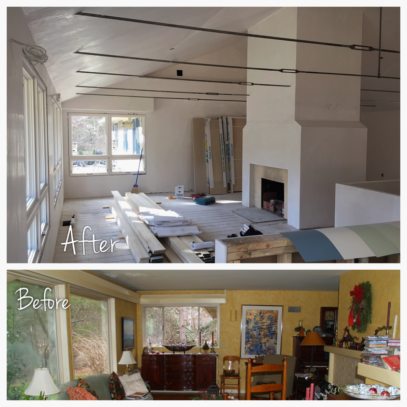 Before and after progress at north shore ranch house for Home renovations before and after
