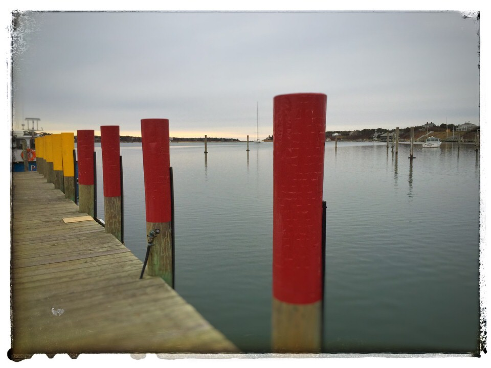 Red & yellow pilings