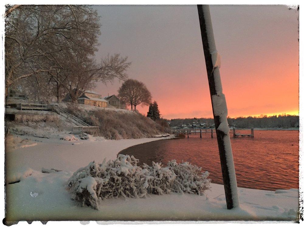 Winter magic hour in Touisset