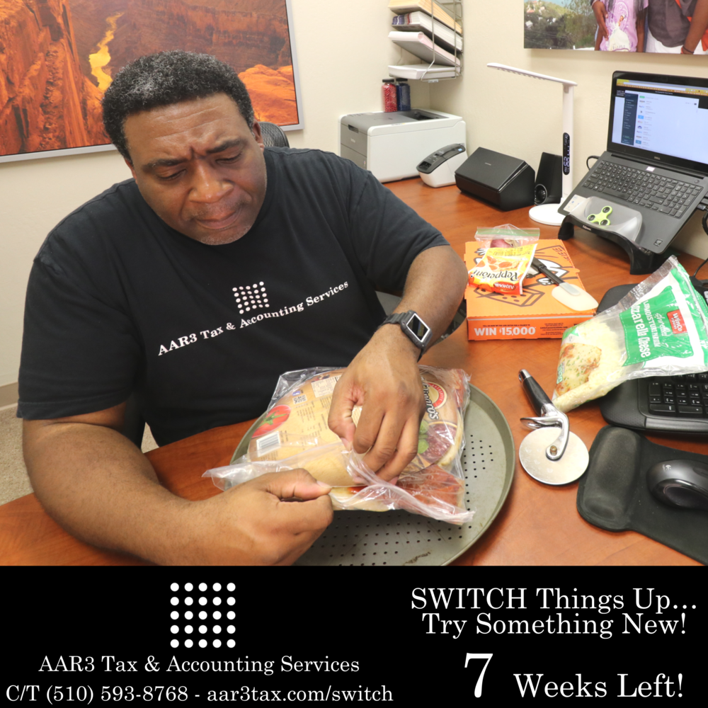 AAR3 Tax & Accounting Services Tax Season 2018 Countdown #aar3tax  #AndreReese #T3RBrands #t3tRetail #PizzaMan Week 07.png