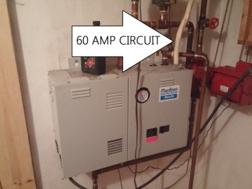 Here's what we saw - a high quality Slant/Fin electric hot water boiler heating system - You don't see these everyday