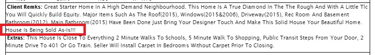 I know they're trying to protect themselves, but 3 exclamation marks can scare away a lot of potential buyers