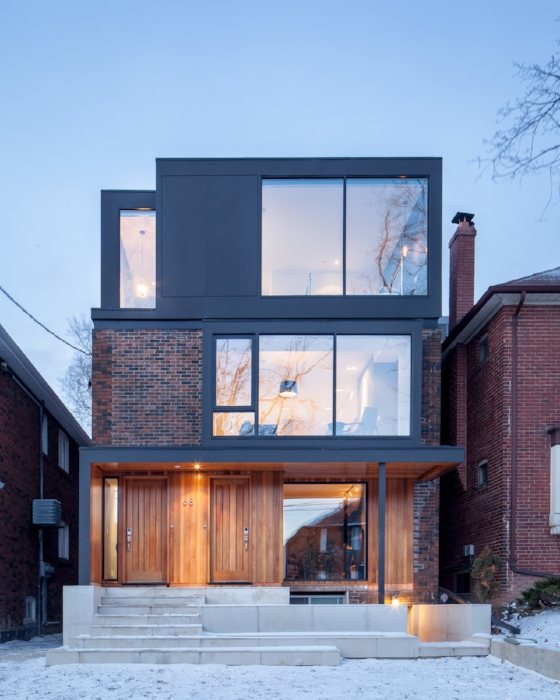 Here's a midtown single family home that was converted into a legal triplex - no sloppy tenants will be living here - Photo: Dwell.com