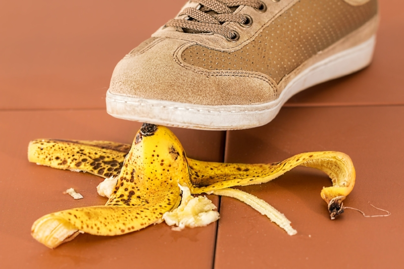Are people still leaving banana peels on the floor?