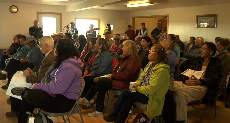 Bristol Bay residents speak in support of strong protections during the August 2014 hearing in Iliamna, AK.