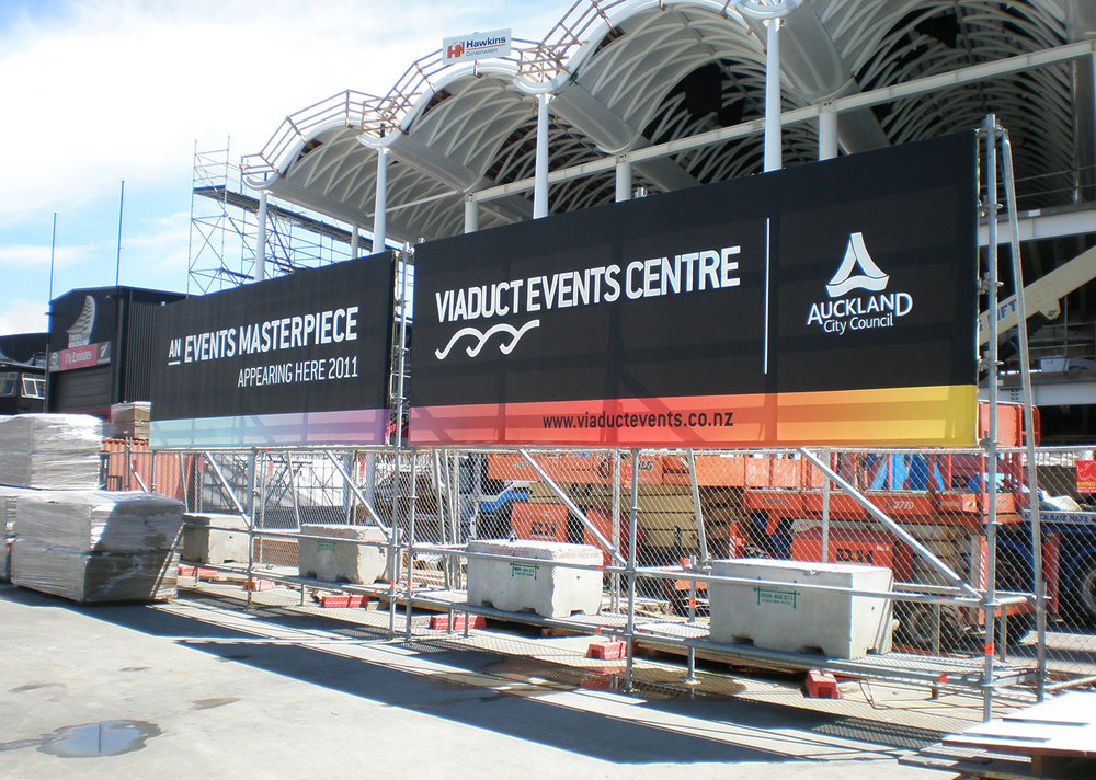 Viaduct Events Centre Billboard
