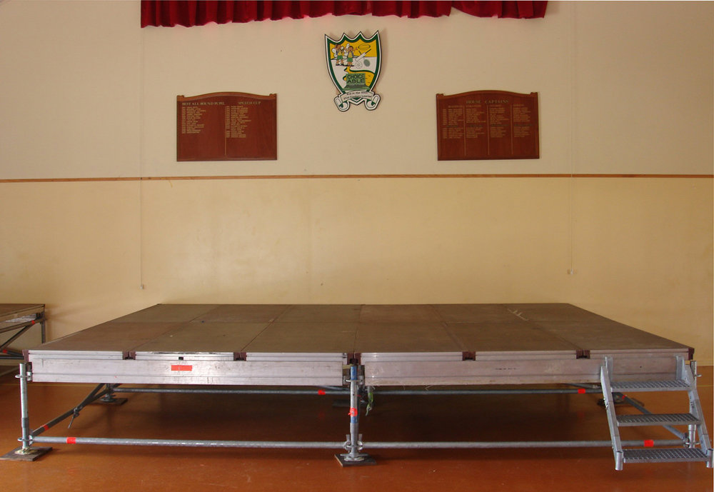 Small Indoor School Stage
