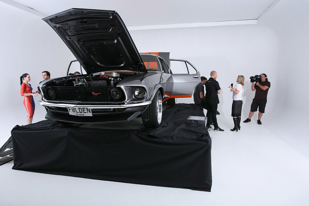 Indoor Car Revile Stage for The Rock
