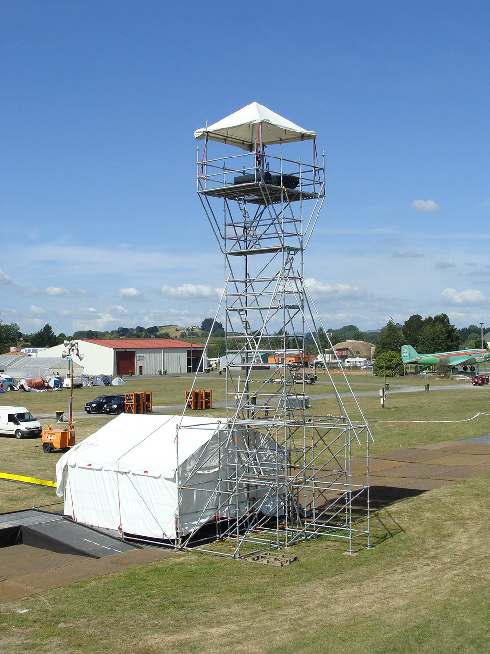 Split-Level AV Plus Follow Spot Tower