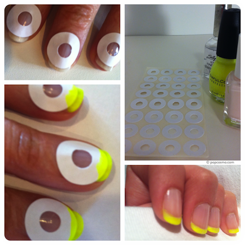 How to do a french manicure at home with tape
