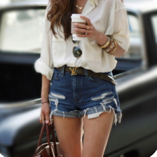 diy jean shorts high waisted bleached popcosmo. Black Bedroom Furniture Sets. Home Design Ideas