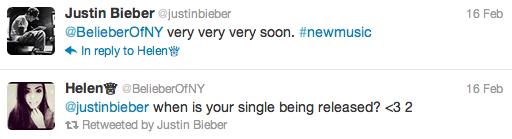 tweet Justin Bieber