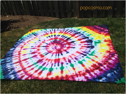 how to make a tie dye sheet