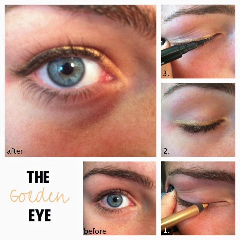 gold eyeliner tutorial