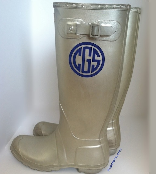 monogram hunter boots
