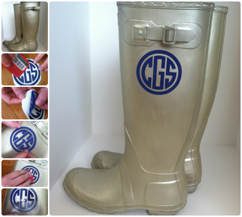 Hunter Boots monogram
