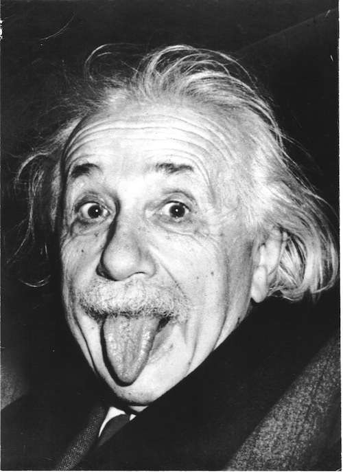 einstein goofing off