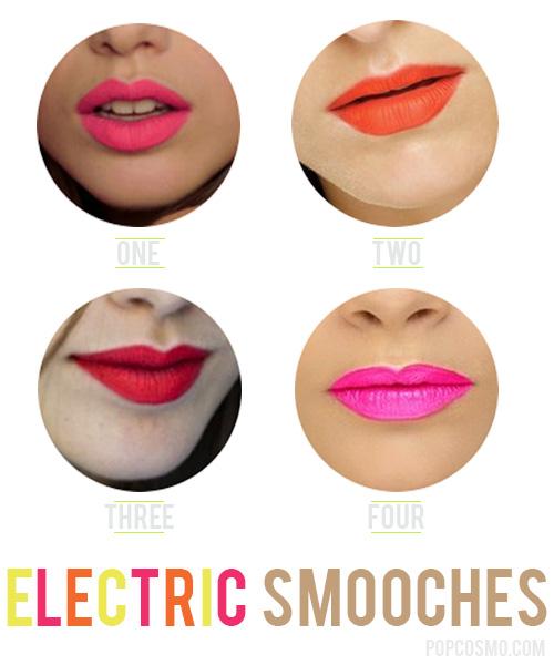 neon lipsticks